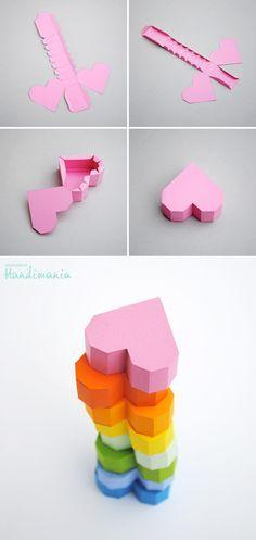 ساخت جعبه به شکل قلب